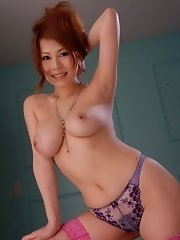 Yuki Aida shows off her big boobs