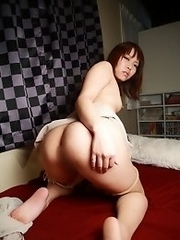 Lovely and unique Japanese av idol Haruna Ikoma spreads her legs and shows her lovely pussy
